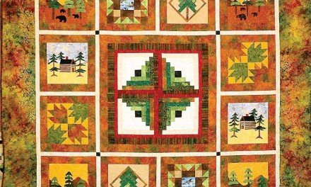 Adirondack Autumn quilt among many artistic items being displayed