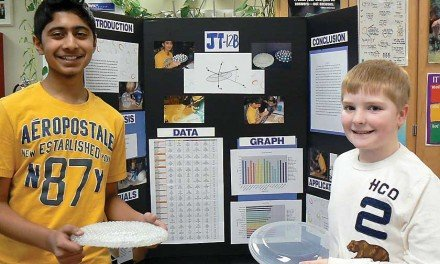 Students earn second place at science fair