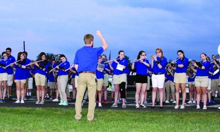 Northville Falcon Band  performs at Fonda Speedway