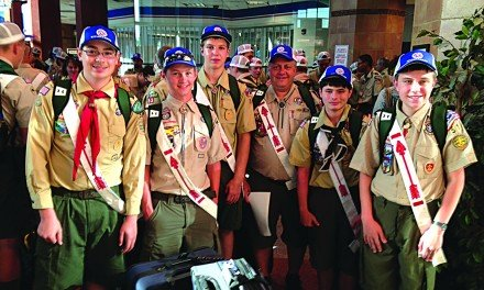 Boy Scouts from Troop  5051 attend  conference