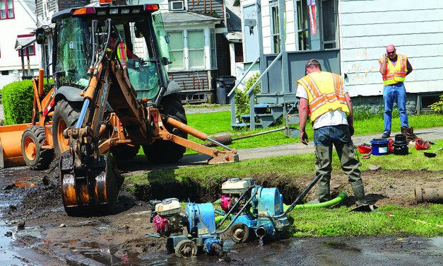 Water line repaired on Harrison Street