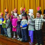 Giving thanks: Mayfield kindergarten class members thankful for trees, pie and family