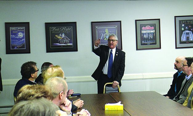 Looking ahead: Senator Jim Tedisco speaks with local business leaders about his plans during his first term on the state Senate