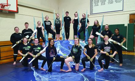 JHS Winter Guard members take first place