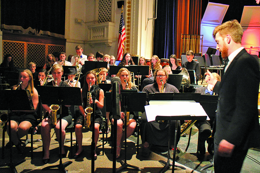Dusten Rader/Express staff Northville Central School Music Department held its first annual 4th-12th spring concert May 4. The NCSD jazz band performs under the direction of Michael Graves.