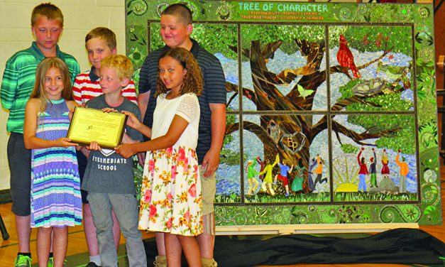 B-P's class of 2024 creates Tree of Character mosaic
