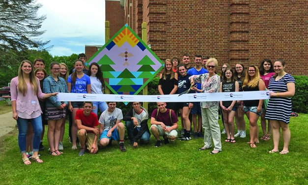 NCSD installs Falcon's Journey barn quilt