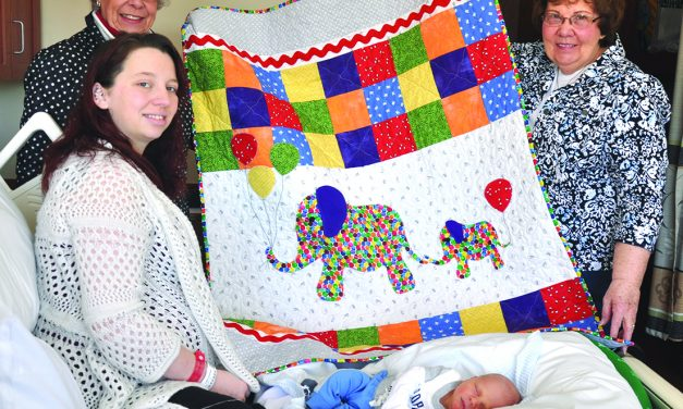 Sew Busy Quilt Guild recognizes Littauer baby